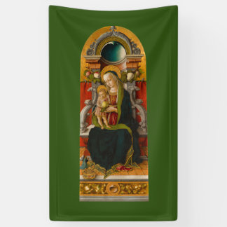 Madonna and Child Enthroned Banner