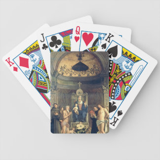 Madonna and Child Enthroned between SS. Francis, J Bicycle Playing Cards