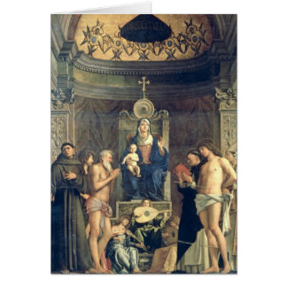Madonna and Child Enthroned between SS. Francis, J Card