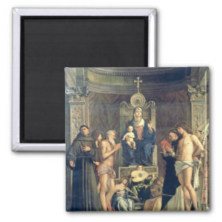 Madonna and Child Enthroned between SS. Francis, J Refrigerator Magnets