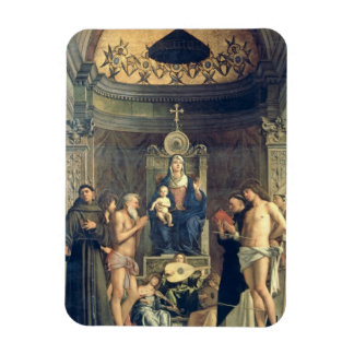 Madonna and Child Enthroned between SS. Francis, J Rectangular Photo Magnet