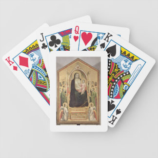 Madonna and Child Enthroned, c.1300-03 (PRE-restor Bicycle Playing Cards