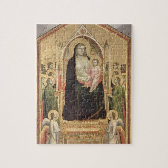 Madonna and Child Enthroned, c.1300-03 (PRE-restor Jigsaw Puzzle