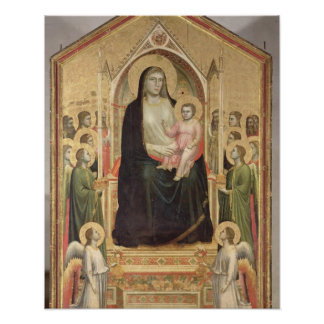 Madonna and Child Enthroned, c.1300-03 (PRE-restor Poster