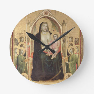 Madonna and Child Enthroned, c.1300-03 (PRE-restor Round Clock