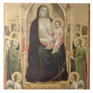 Madonna and Child Enthroned, c.1300-03 (PRE-restor Tiles
