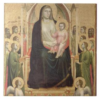 Madonna and Child Enthroned, c.1300-03 (PRE-restor Tile