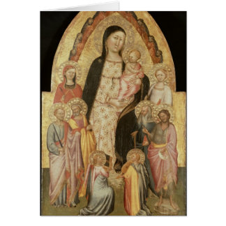 Madonna and Child Enthroned Card