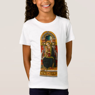 Madonna and Child Enthroned Girls Babydoll T-Shirt