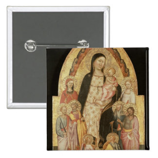 Madonna and Child Enthroned Pinback Button