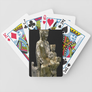 Madonna and Child Enthroned, statuette, French, 12 Bicycle Playing Cards