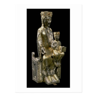 Madonna and Child Enthroned, statuette, French, 12 Postcard
