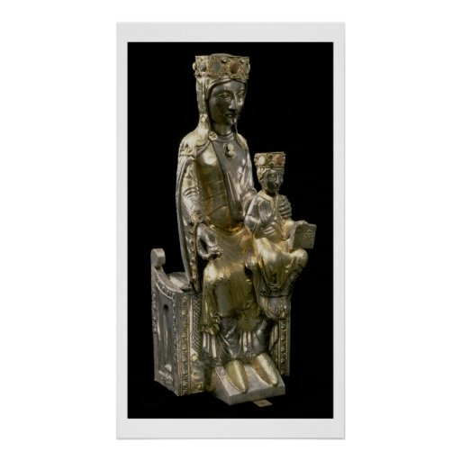 Madonna and Child Enthroned, statuette, French, 12 Poster