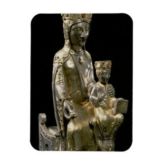 Madonna and Child Enthroned, statuette, French, 12 Flexible Magnets