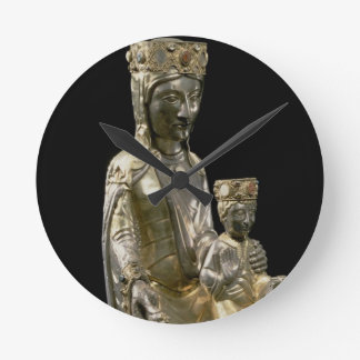 Madonna and Child Enthroned, statuette, French, 12 Round Clock