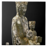 Madonna and Child Enthroned, statuette, French, 12 Large Square Tile