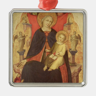 Madonna and Child Enthroned with Donor Vulciano Metal Ornament