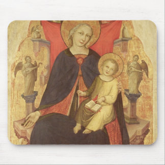 Madonna and Child Enthroned with Donor Vulciano Mouse Pad