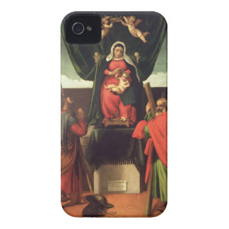 Madonna and Child Enthroned with Four Saints, 1546 iPhone 4 Case-Mate Cases