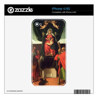 Madonna and Child Enthroned with Four Saints, 1546 iPhone 4 Skins
