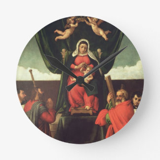 Madonna and Child Enthroned with Four Saints, 1546 Round Clock