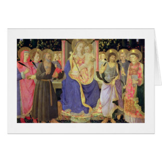 Madonna and Child enthroned with saints (altarpiec Card