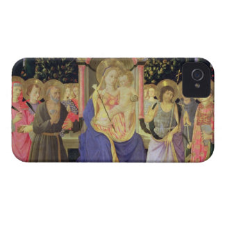 Madonna and Child enthroned with saints (altarpiec iPhone 4 Cover