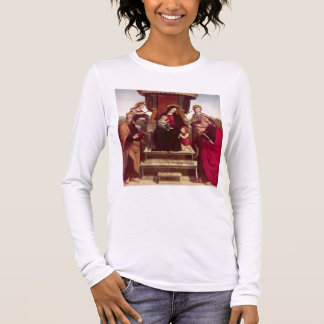 Madonna and Child Enthroned with Saints by Raphael Long Sleeve T-Shirt