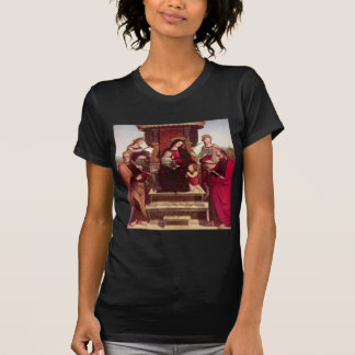 Madonna and Child Enthroned with Saints by Raphael T-Shirt