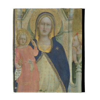 Madonna and Child enthroned with Saints, detail sh iPad Folio Cover