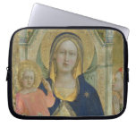 Madonna and Child enthroned with Saints, detail sh Laptop Sleeve