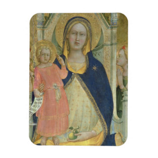 Madonna and Child enthroned with Saints, detail sh Rectangular Photo Magnet