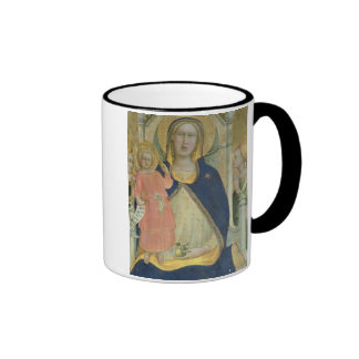 Madonna and Child enthroned with Saints, detail sh Ringer Mug