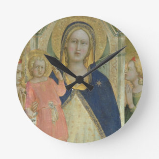 Madonna and Child enthroned with Saints, detail sh Round Clock