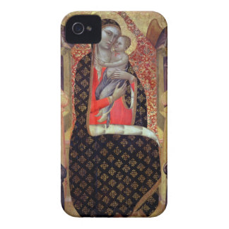 Madonna and child enthroned with six angels (panel iPhone 4 covers