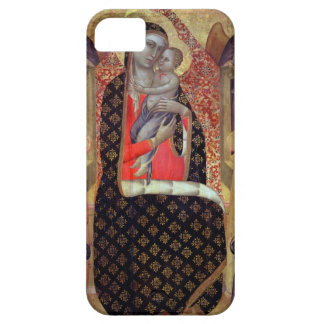 Madonna and child enthroned with six angels (panel iPhone 5 covers