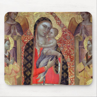Madonna and child enthroned with six angels (panel mouse pad