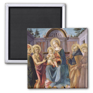 Madonna and Child Enthroned with  SS Magnets