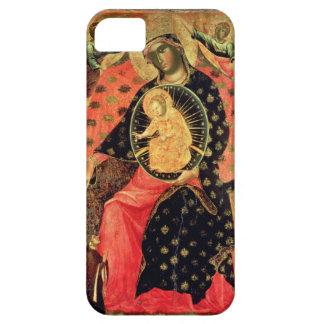 Madonna and Child Enthroned with Two Devout People iPhone 5 Cases
