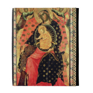 Madonna and Child Enthroned with Two Devout People iPad Folio Covers