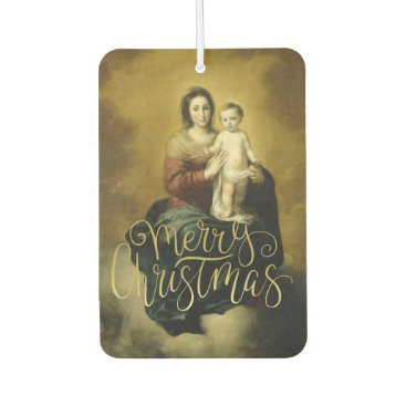 Beach Themed Madonna and Child, Fine Art Christmas Car Air Freshener