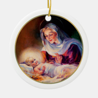 Madonna and Child Fine Art Christmas Gift Ornament