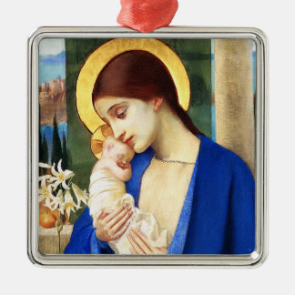 Madonna and Child.Fine Art Christmas Gift Ornament
