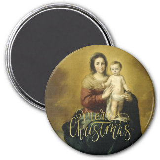 Madonna and Child, Fine Art Christmas Magnets