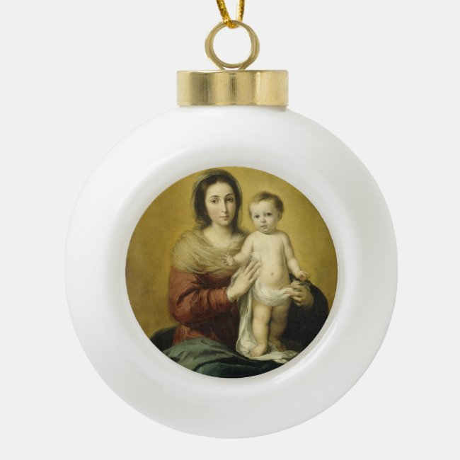 Madonna and Child, Fine Art Christmas Ornament
