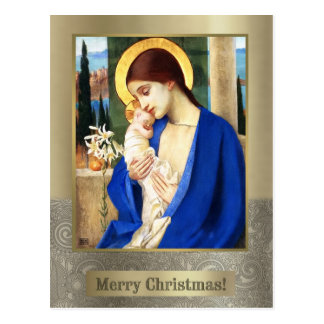 Madonna and Child. Fine Art Christmas Postcards