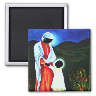 Madonna and child - First steps 2008 Magnet