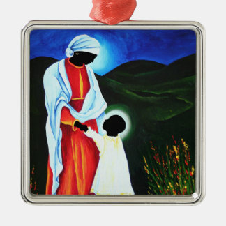 Madonna and child - First steps 2008 Metal Ornament