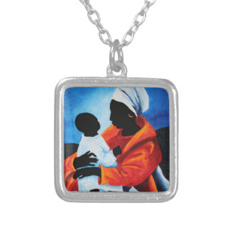 Madonna and child - First words 2008 Silver Plated Necklace