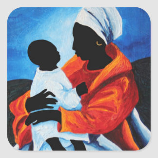 Madonna and child - First words 2008 Square Sticker